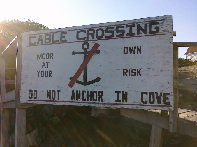Cove sign