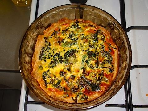 Cheese broccoli quiche
