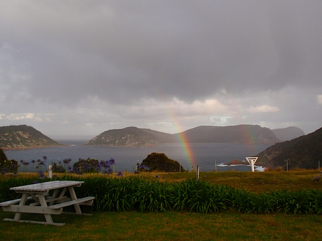 The rainbows end here