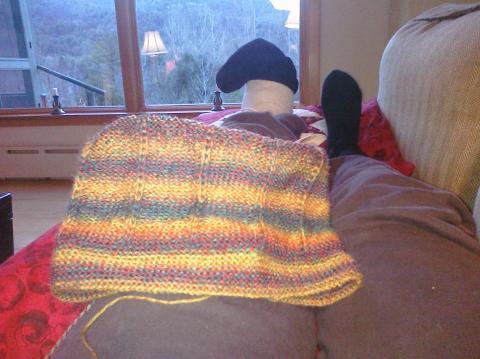 Pinstripe slouch hat